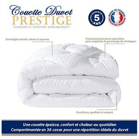COUETTE DUVET luxe 200*200 cm 80% Duvet 20% Plumettes pas chère FABRIQUE EN FRANCE