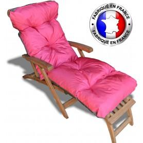 COUSSIN BAIN DE SOLEIL  ROSE PES 180*60*12 cm HAUTE QUALITE