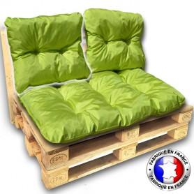 COUSSIN DOSSIER IMPERMEABLE pour SALON PALETTE 60*55 cm vert ép 17 cm !