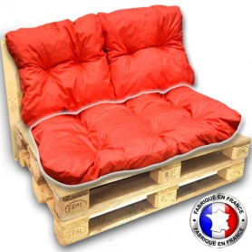 COUSSIN ASSISE pour SALON PALETTE 120*80 cm orange ép.17 cm