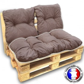 assise coussin palette taupe seule