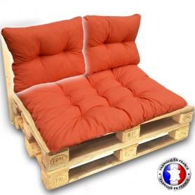 COUSSIN DOSSIER pour CANAPE euro palettes 60*55 cm cm orange épaisseur 17 cm ! Le moins cher du net! FABRIQUE EN FRANCE