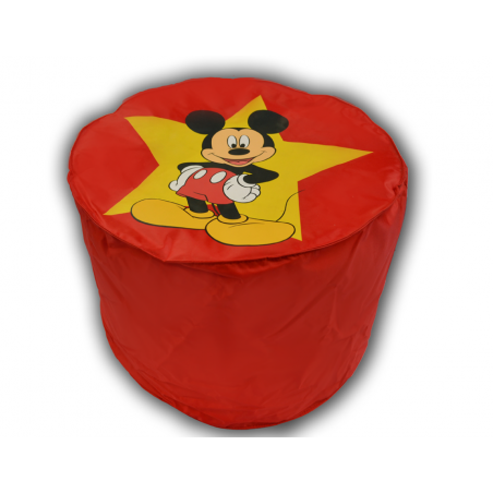 pouf rouge  mickey mousse top model disney