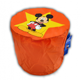 Pouf ORANGE  Mickey Mouse top model Disney pas cher FABRIQUE EN FRANCE