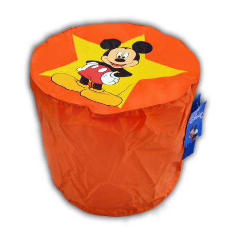 Pouf ORANGE  Mickey Mouse top model Disney pas cher FABRIQUE EN FRANCE