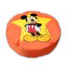 pouf disney  mickey geant 110 cm de diametre couleur orange