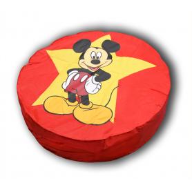pouf mickey disney geant  vert 110 cm de diametre