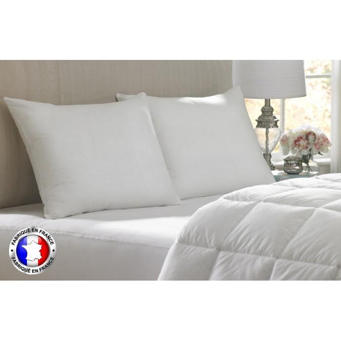Lot de deux oreillers de fabrication Française à petit prix