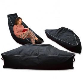 pouf sac assise banane noir