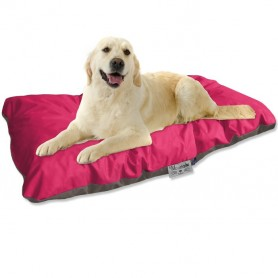 Coussin Chien imperméable fuschia taupe 105x60