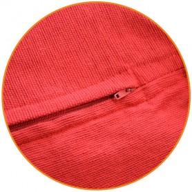 petit pouf rouge cubique