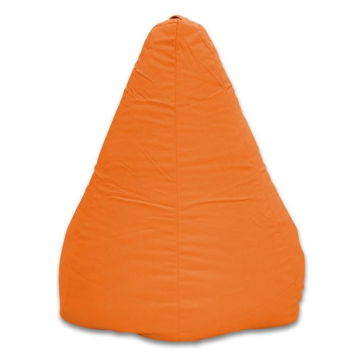 pouf poire adulte orange pastel 100% coton