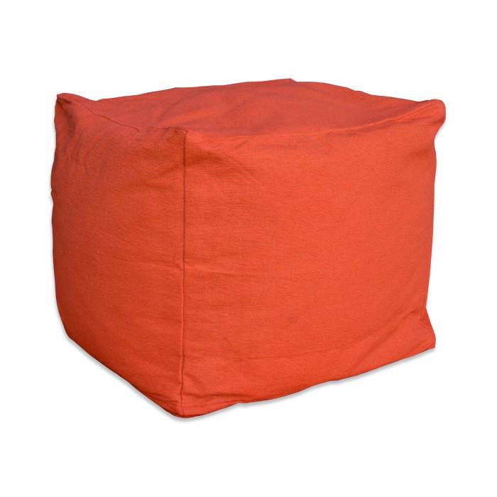 pouf carré orange cube