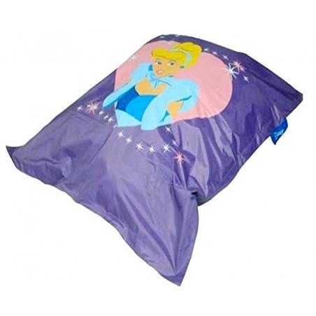 Pouf géant MAUVE Disney 135*160 cm motif Princesse pas cher FABRIQUE EN FRANCE