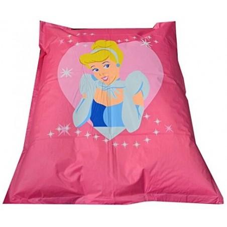 Pouf géant ROSE Disney 135*160 cm motif Princesse pas cher FABRIQUE EN FRANCE