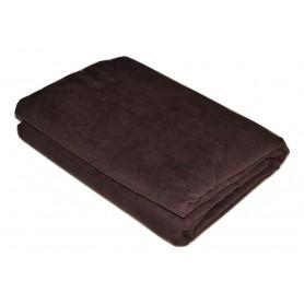Jeté de canapé marron chocolat