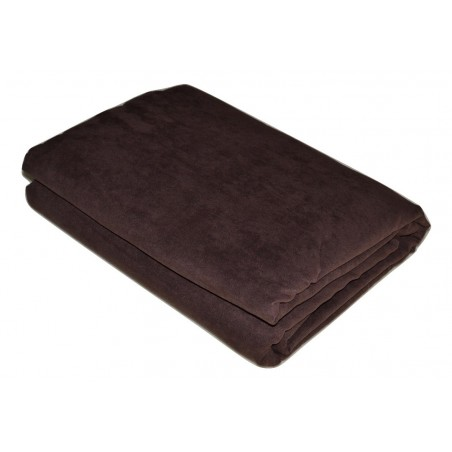 Jeté de canapé marron chocolat 180*270 cm pas cher