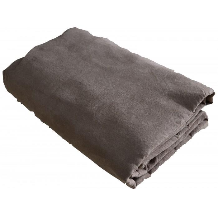 Jeté de canapé gris beige 280*270 cm pas cher FABRIQUE EN FRANCE