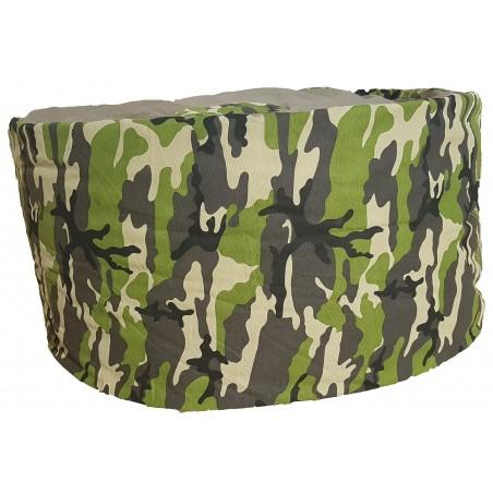 Pouf géant rond adulte Camouflage Army pas cher FABRIQUE EN FRANCE