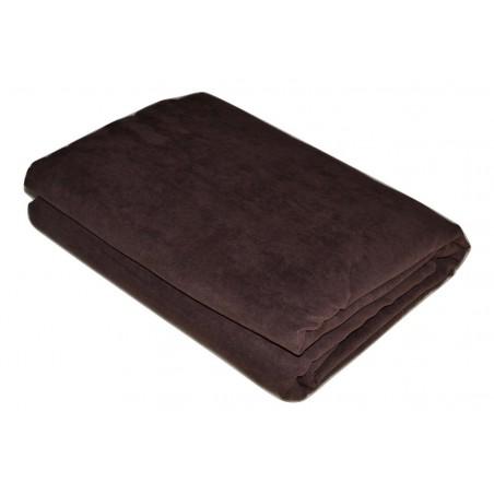 Jeté de canapé marron chocolat 220*270 cm pas cher