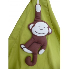 Poire enfant verte motif singe jungle