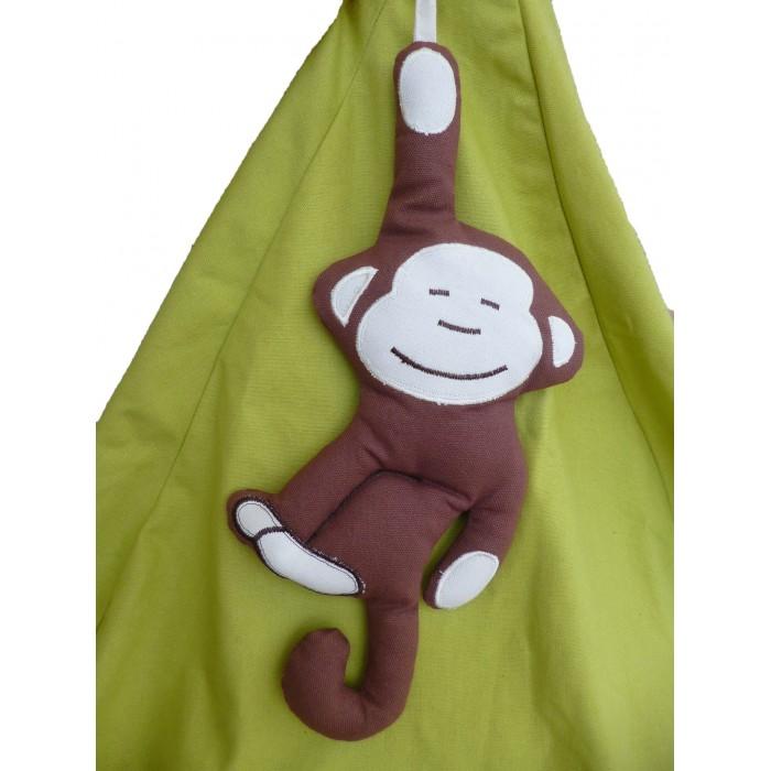 Poire enfant verte motif singe jungle